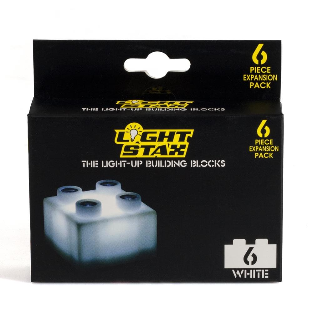 Light Stax LED Light-Up Building Blocks 6-Piece Expansion Pack: White