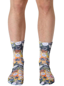 Living Royal Photo Print Crew Socks: Galaxy Kitty