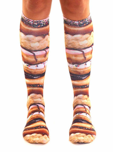 Stacked Donuts Photo Print Knee High Socks