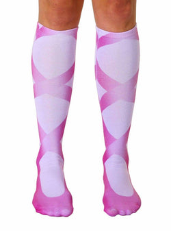 Ballerina Slipper Photo Print Knee High Socks