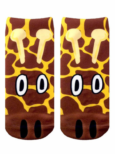 Giraffe Photo Print Ankle Socks