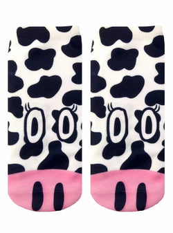 Cow Photo Print Ankle Socks