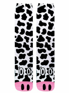 Cow Photo Print Knee High Socks