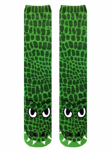 Crocodile Photo Print Knee High Socks