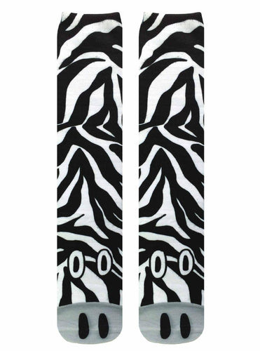 Zebra Photo Print Knee High Socks