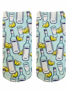 Vodka Photo Print Ankle Socks