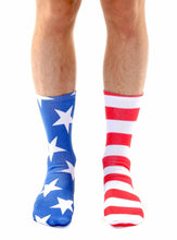 Load image into Gallery viewer, Unisex Stars & Stripes Crew Socks
