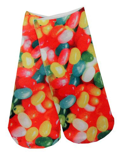 Jelly Beans Photo Print Ankle Socks