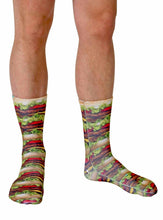Load image into Gallery viewer, Stacked Hamburgers Photo Print Knee High Socks