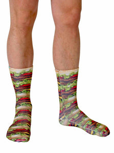 Stacked Hamburgers Photo Print Knee High Socks