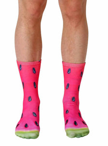 Unisex Watermelon Crew Socks