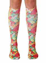 Load image into Gallery viewer, Gummy Bears Photo Print Knee High Socks