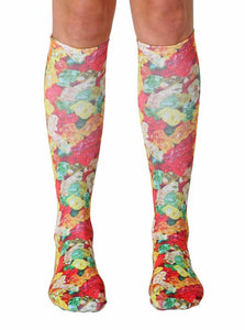Gummy Bears Photo Print Knee High Socks