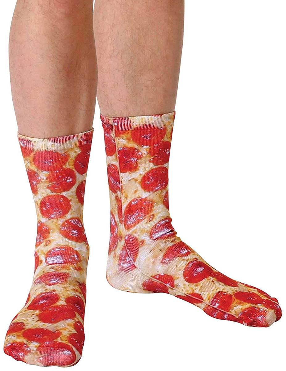 Pizza Photo Print Crew Socks