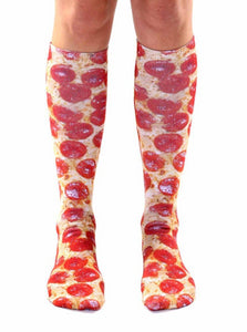 Pizza Photo Print Knee High Socks