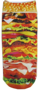 Cheeseburger Photo Print Ankle Socks