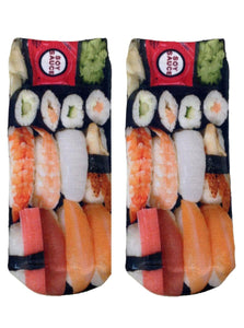 Sushi Photo Print Ankle Socks