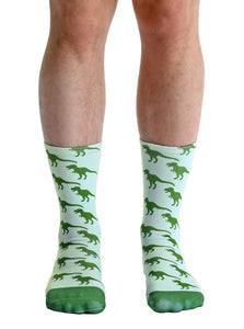 Living Royal Photo Print Crew Socks: Dinosaur