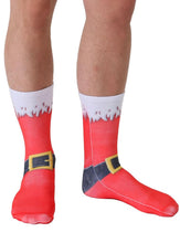 Load image into Gallery viewer, Unisex Santa Boots Crew Socks