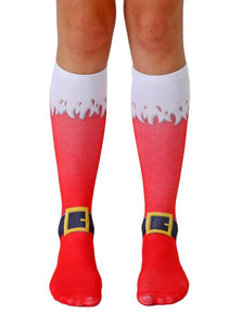 Unisex Santa Boots Knee High Socks