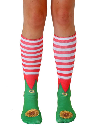 Unisex Elf Shoes Knee High Socks