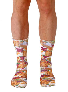 Unisex Thanksgiving Dinner Crew Socks