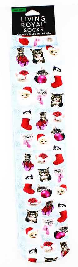 Christmas Kitties Knee High Socks