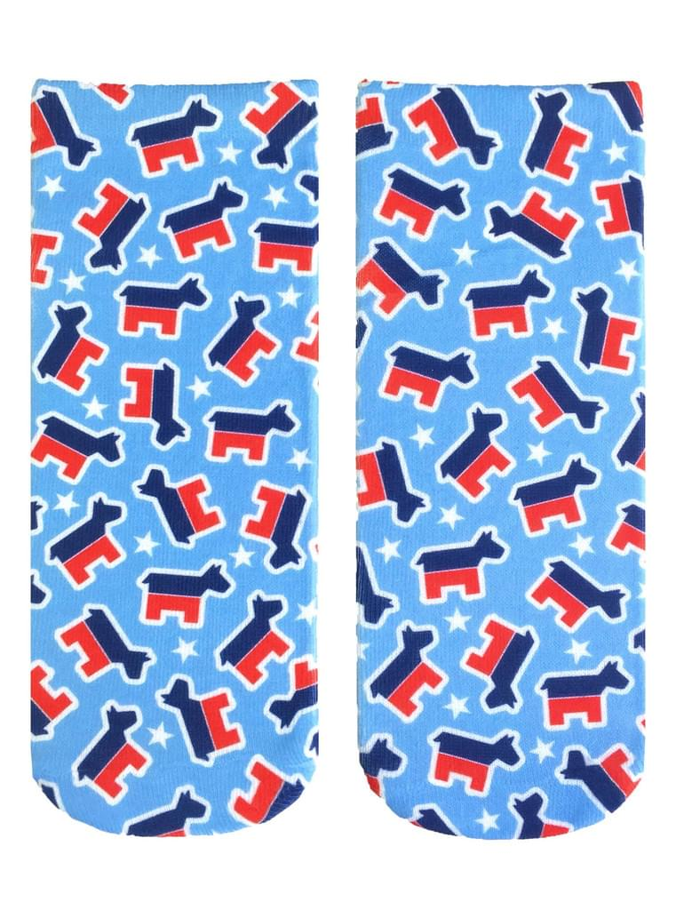 Democrat Donkey Ankle Socks