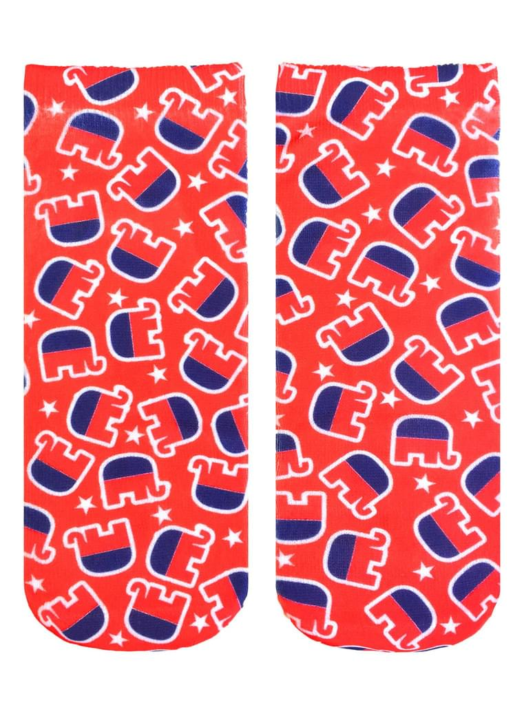 Republican Elephant Ankle Socks