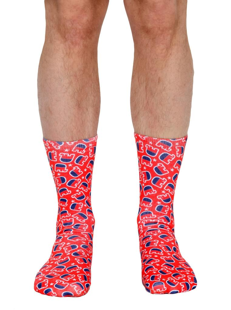 Republican Elephant Crew Socks