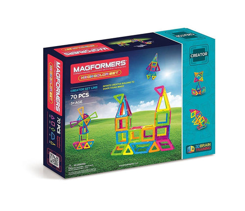 Magformers Neon 70-Piece Building Set