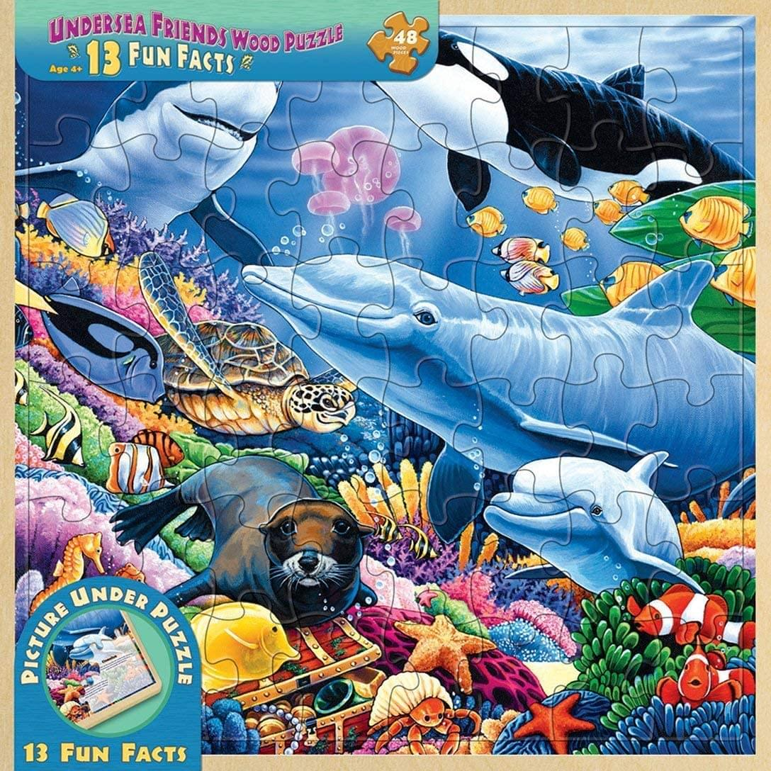 Undersea Friends 48 Piece Real Wood Jigsaw Puzzle