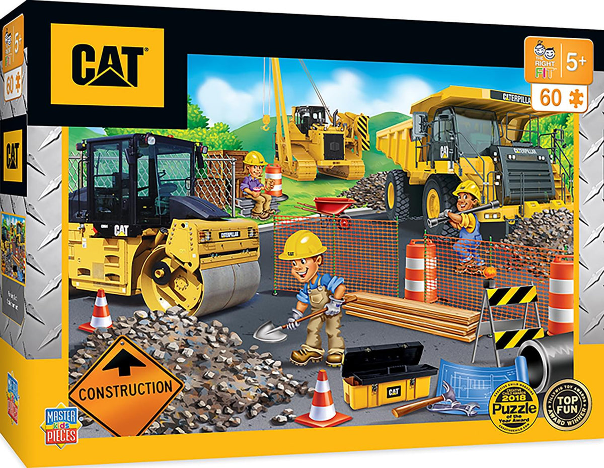 Caterpillar Parking Lot 60 Piece Jigsaw Puzzle
