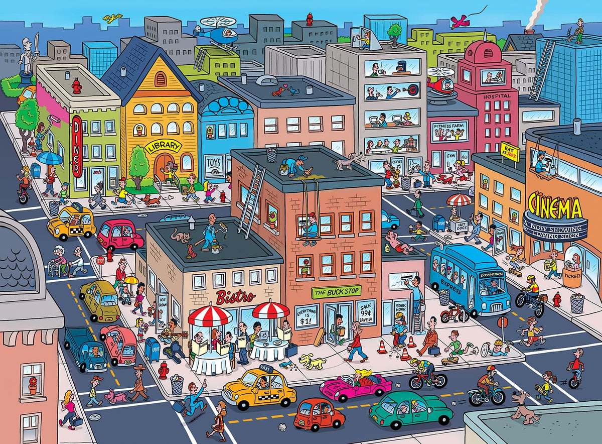 Things to Spot In Town 101 Piece Jigsaw Puzzle
