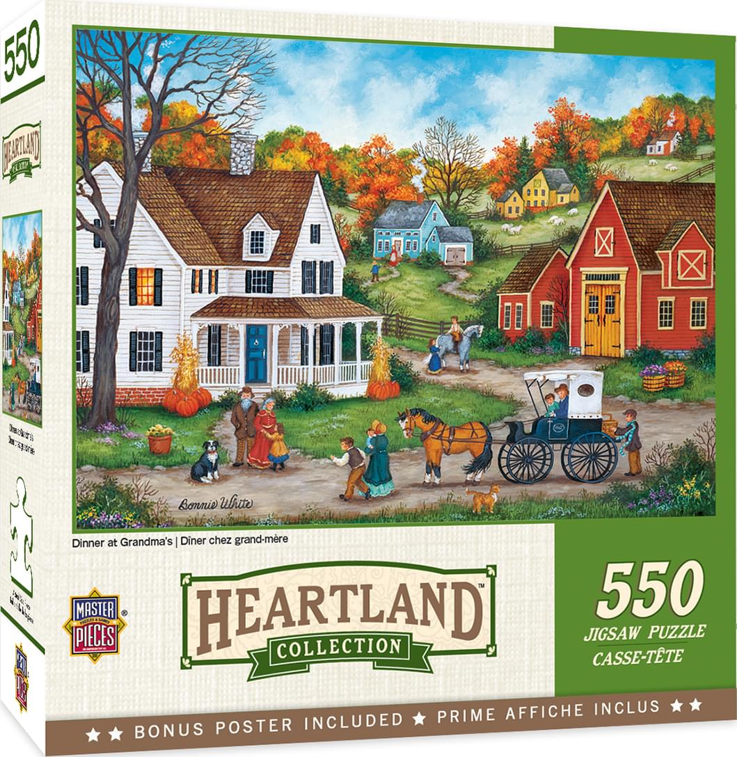 Dinner at Grandmas 550 Piece Jigsaw Puzzle