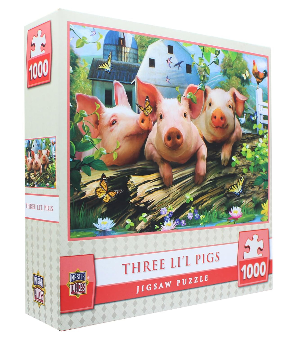 MasterPieces 1000 Piece Jigsaw Puzzle | Three Lil' Pigs