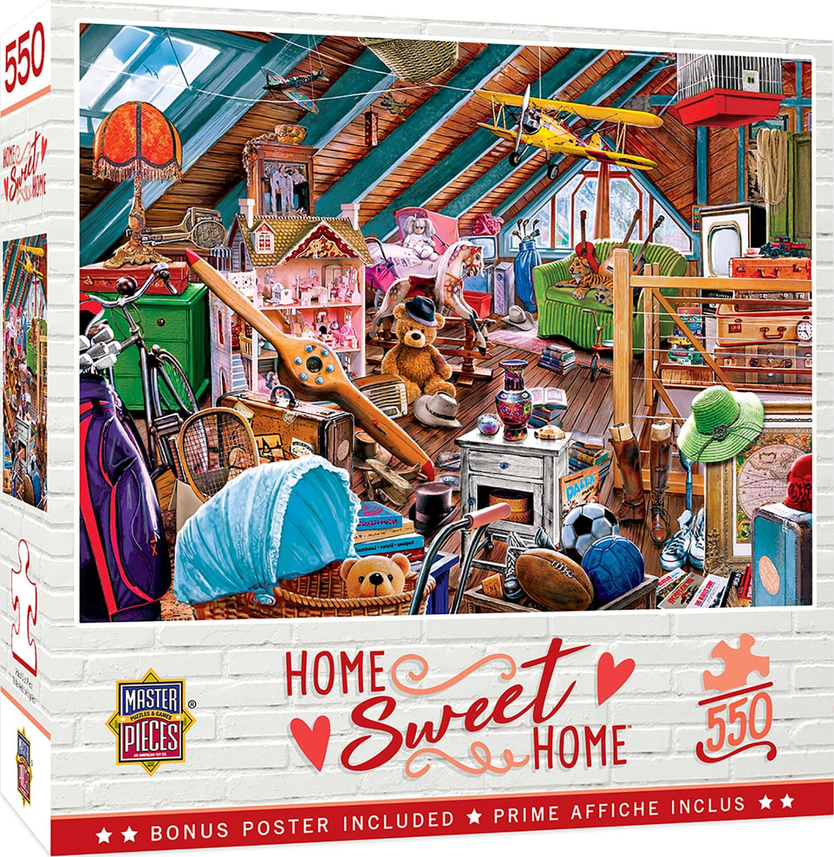 Attic Secrets 550 Piece Jigsaw Puzzle