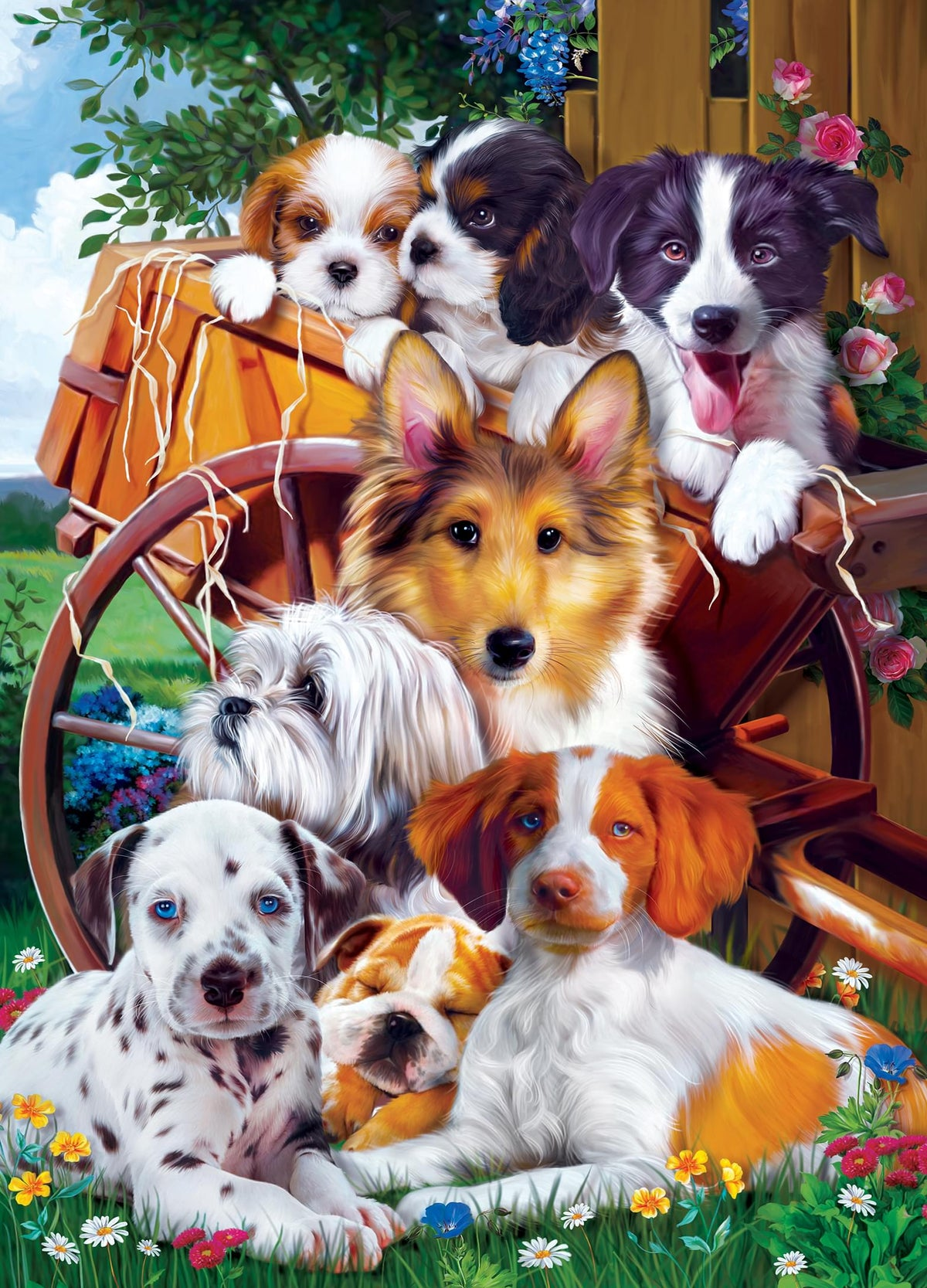 Furry Friends Ready for Work 1000 Piece Jigsaw Puzzle