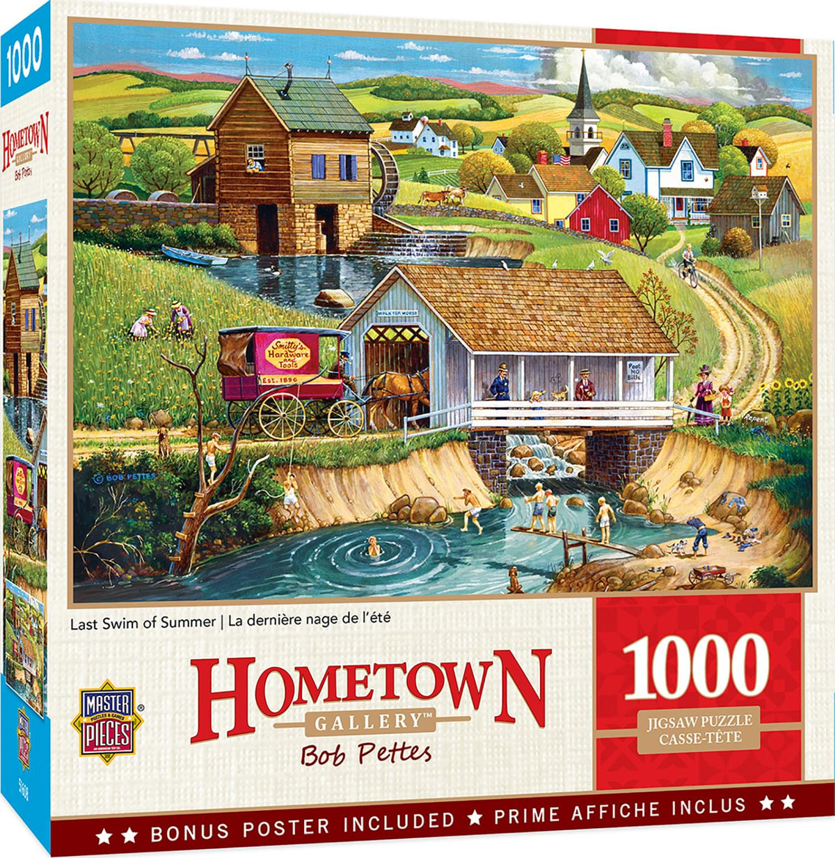 Hometown Gallery Last Swim of Summer 1000 Piece Jigsaw Puzzle