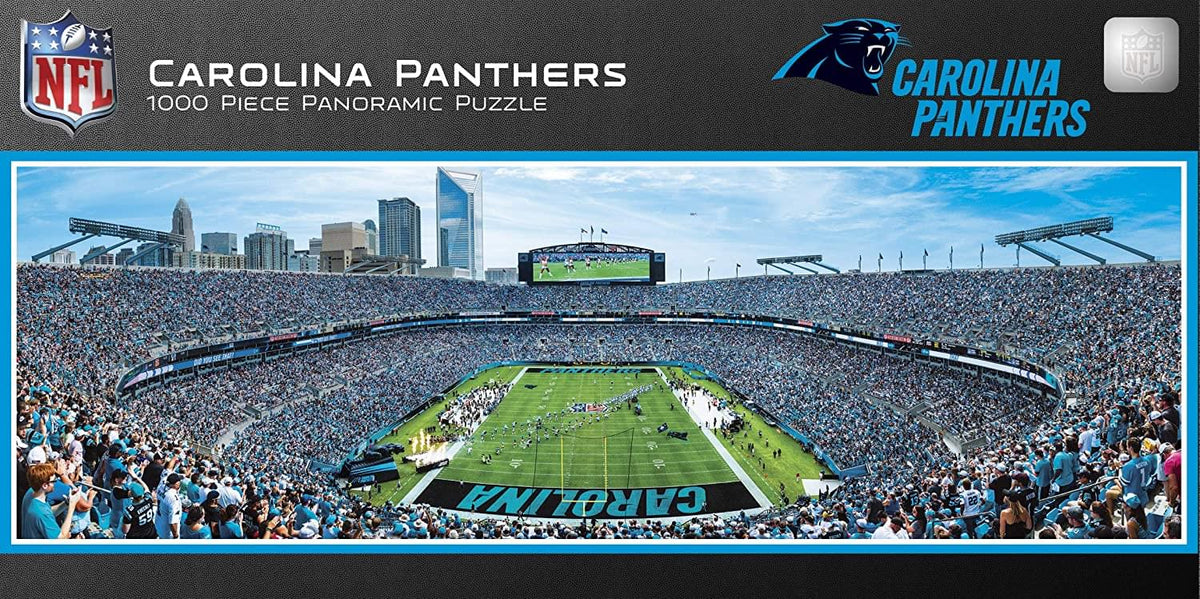 Carolina Panthers Stadium NFL 1000 Piece Panoramic Jigsaw Puzzle