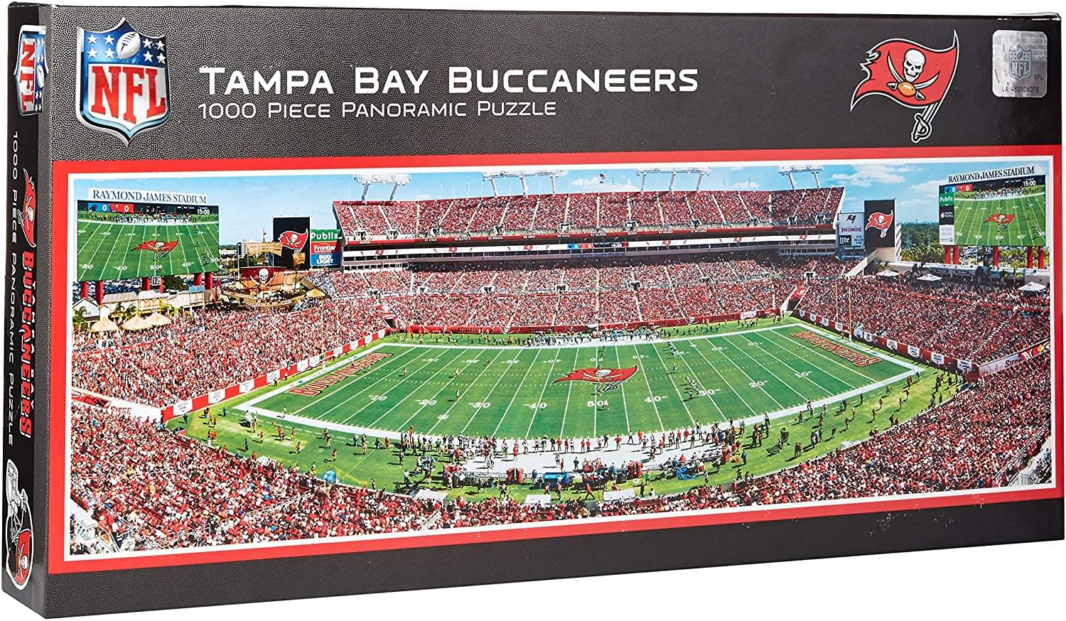 Tampa Bay Buccaneers Stadium NFL 1000 Piece Panoramic Jigsaw Puzzle
