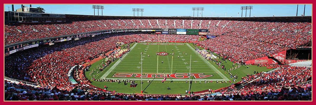 San Francisco 49ers Stadium NFL 1000 Piece Panoramic Jigsaw Puzzle
