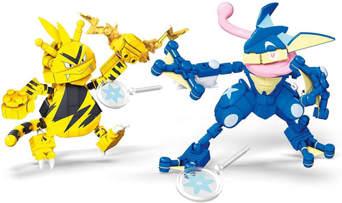 Pokemon Mega Construx 340 Piece Building Set | Greninja vs Electabuzz