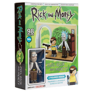 Rick and Morty 98-Piece Construction Set w/ Evil Rick and Morty