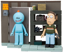 Load image into Gallery viewer, Rick and Morty Smith Garage Rack 109-Piece Construction Set w/ Meeseeks & Jerry