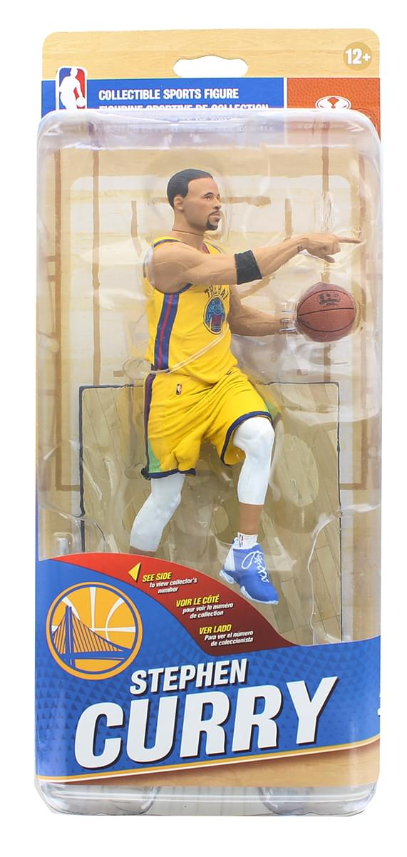 "Golden State McFarlane NBA 32 Figure - Stephen Curry Yellow ""The Bay"" #22 of 50"