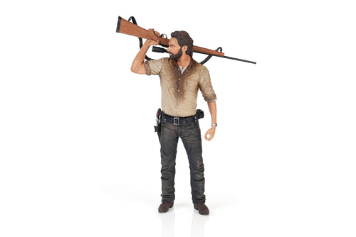 The Walking Dead Rick Grimes Deluxe Poseable Figure | Measures 10 Inches Tall