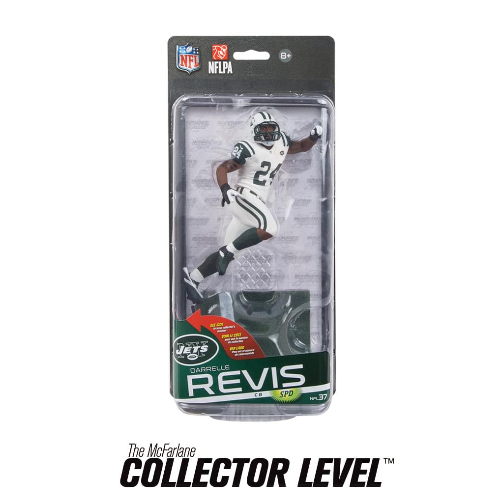 NY Jets McFarlane NFL Series 37 Figure Darrelle Revis White Uniform Chase