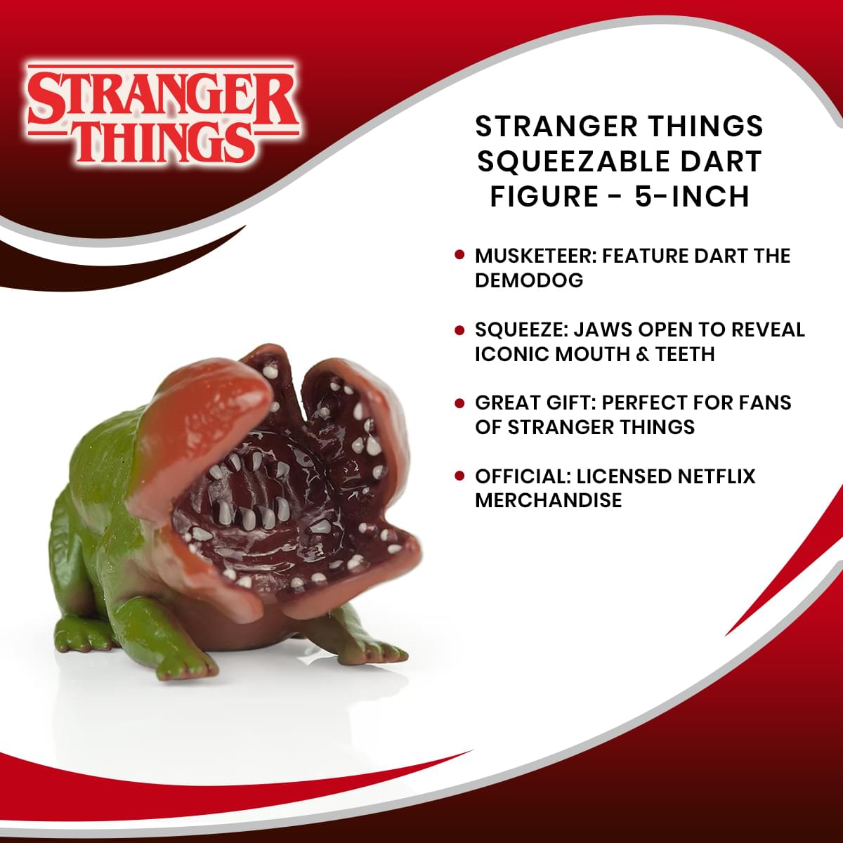 Stranger Things Squeezable Dart Figure - 5-Inch