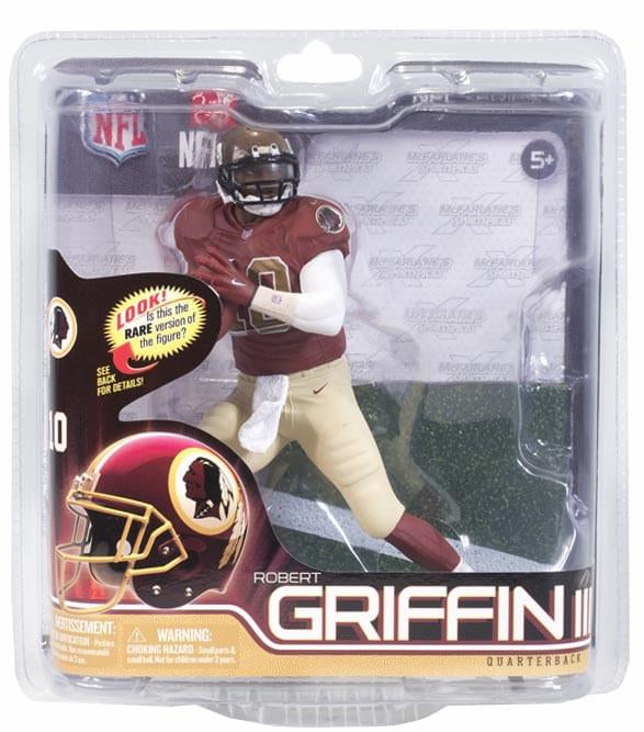 buy popular 99a6c 122c0 Washington Redskins McFarlane NFL Series 31 Figure: Robert Griffin III  (Throwback Jersey Exclusive) Chase